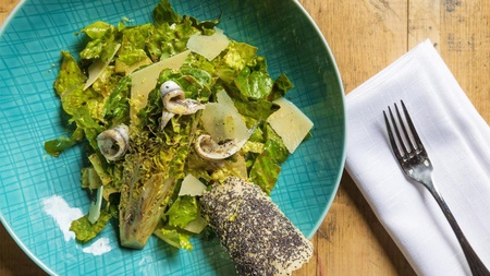 Aureole - Black Garlic Caesar Salad