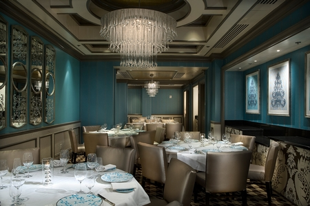 André's at the Monte Carlo - Beautiful Blue Seating Area