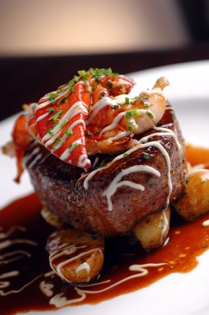 N9NE Steakhouse - Steak, Shrimp, Lobster and Potatoes