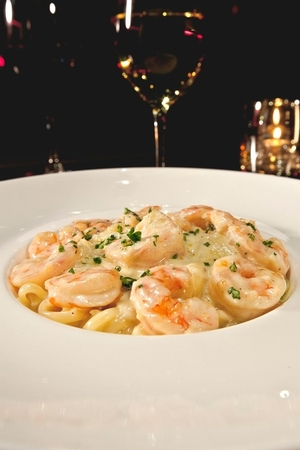 N9NE Steakhouse - Shrimp Alfredo