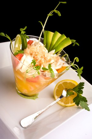 333 Pacific - Citrus shrimp and blue crab ceviche