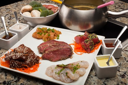 The Melting Pot - Gaslamp - Different Meats for Fondue