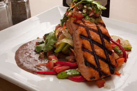 La Playa Bistro - grilled wild salmon