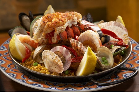 Cafe Sevilla - Paella with lobster tail