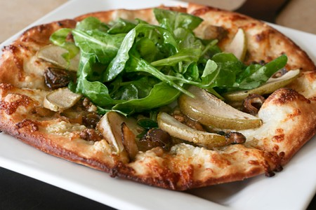 Leucadia Pizzeria & Italian Restaurant - Pear-Gorgonzola Pizza with Arugula