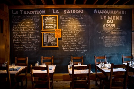 Bleu Boheme - Menu Items on Chalk Board