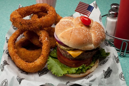 Corvette Diner - Burger & Onion Rings