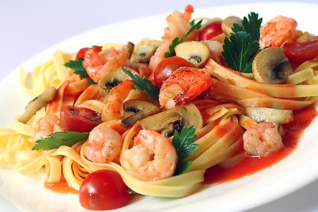 Spaghettini Grill & Jazz Club - Linguine with shrimp