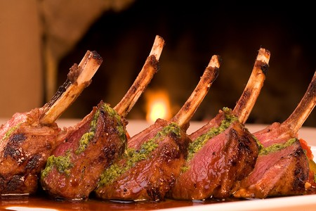 Olive Oil Poached Rack of Lamb