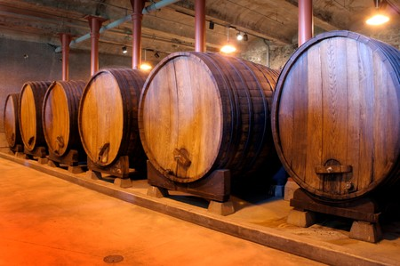 Cellared Wine Barrels
