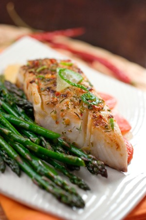 Fish and Asparagus