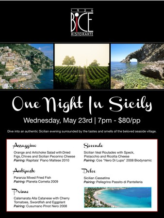 one night in sicily