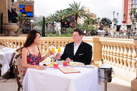 Morels Steakhouse - Dining on Patio right on the Strip