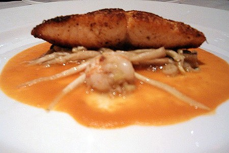 Emeril's New Orleans Fish House - Salmon with Tomato Coulis