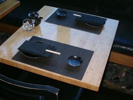 Sushi Roku - Table Setting at Sushi Roku