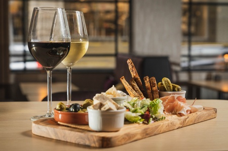 Cappuvino Bar & Coffee Roasters - Deli Platter & Wine
