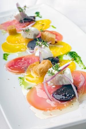 Mille Fleurs - Beet Sashimi with Chevre