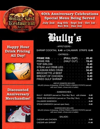 Bully's East - Happy Hours