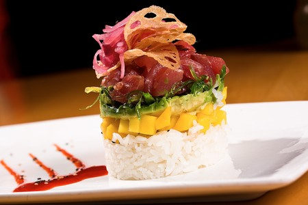 Cafe Japengo - Ponzo Spiced Ahi Stack
