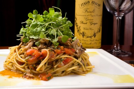 Solare - Spaghetti with oyster mushrooms