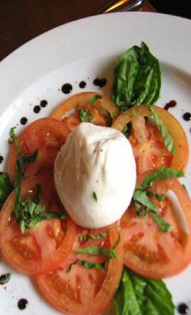 "Spark Woodfire Grill - Huntington Beach - Fresh Burrata ""Soft Mozzarella"" Caprese"