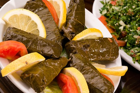 Aladdin Restaurant - Dolma (Stuffed Grape Leaves)