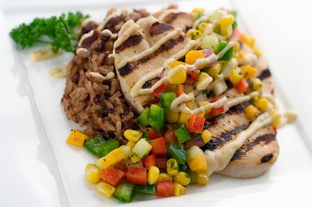 Asia de Cuba - Cuban Chicken with Mango Corn Relish