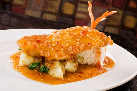 Del Mar Rendezvous - Chilean Seabass with a Yu Hsiang Sauce