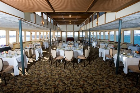 Hornblower Cruises & Events - Spacious Dining of a Hornblower Yacht with a View
