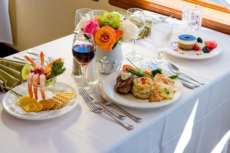 Hornblower Cruises & Events - Dinner Cruise Premium Menu on Hornblower