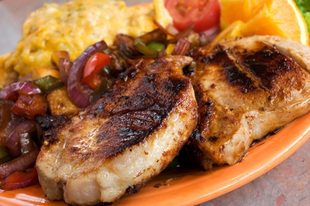 Crest Cafe - Honey Glazed Pork Chops