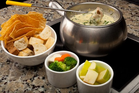 The Melting Pot - Gaslamp - Bread, Veggies, Apples for Fondue