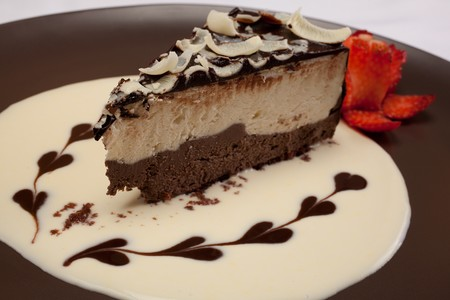 Trattoria Ponte Vecchio - White & Dark Chocolate Mousse Cake