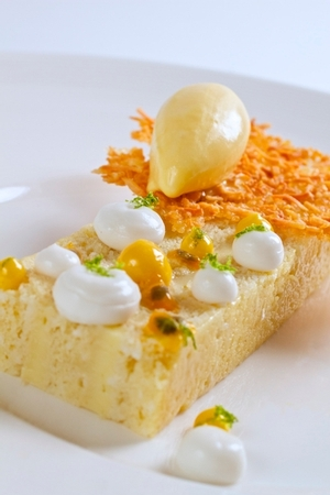 NINE - TEN - NINE-TEN Coconut Cake with Passion Fruit, Lime