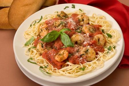 Leucadia Pizzeria & Italian Restaurant - Tomato Basil pasta with Shrimp
