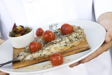 BiCE Ristorante - Fresh Fish with Tomatoes & Seasoning