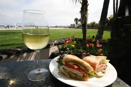 Oceana Coastal Kitchen - Sandwich & White Wine