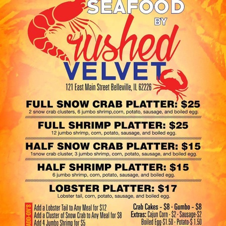 Seafood by Crushed Velvet - Menu