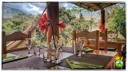 Finca Oasis Verde - Our Dining Space