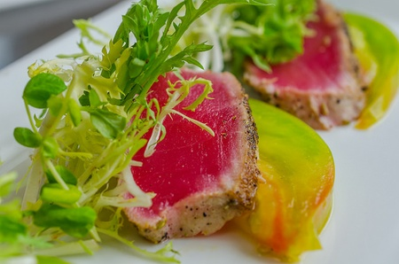 Capstone Kitchen - Seared Tuna With Heirloom Tomatoes