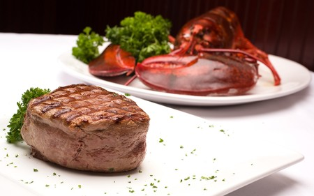 The Palm - West Hollywood - Filet Mignon & Lobster