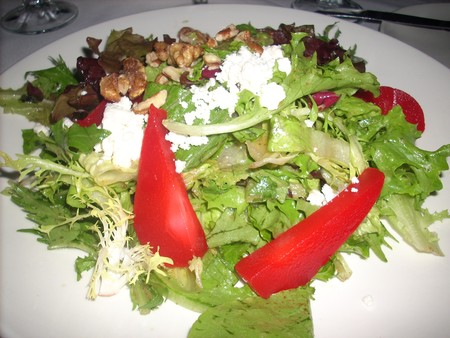 Beach House - Poached Pear & Goat Cheese Salad