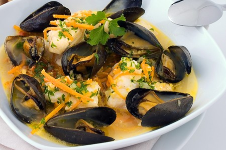 Harpoon Henry's - Haddock and mussel stew