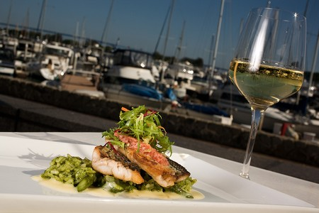 Sally's Seafood on the Water - Seared Striped Bass
