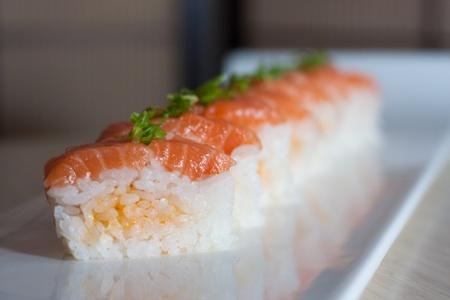 Zen Sushi - Pressed Salmon Sushi