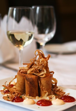 Davio's - Philly Cheesesteak Spring Roll