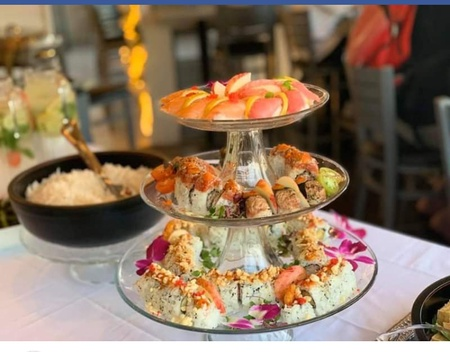 Cherrywine Modern Asian Cuisine - sushi tower