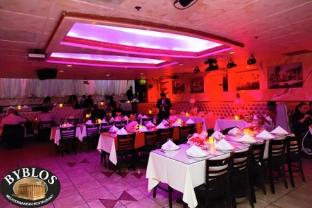 Byblos Mediterranean Restaurant & Hookah Bar - Stage Seating at Byblos