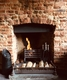 The Half Moon Free House - Open fireplace